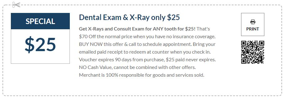 Dental Exam & X-Ray only $25 in Michigan